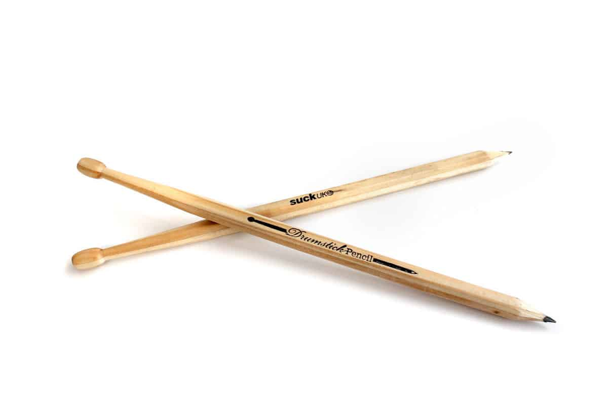 Suck UK Wooden Drumstick Pencil Cool Gift Idea for Drummers