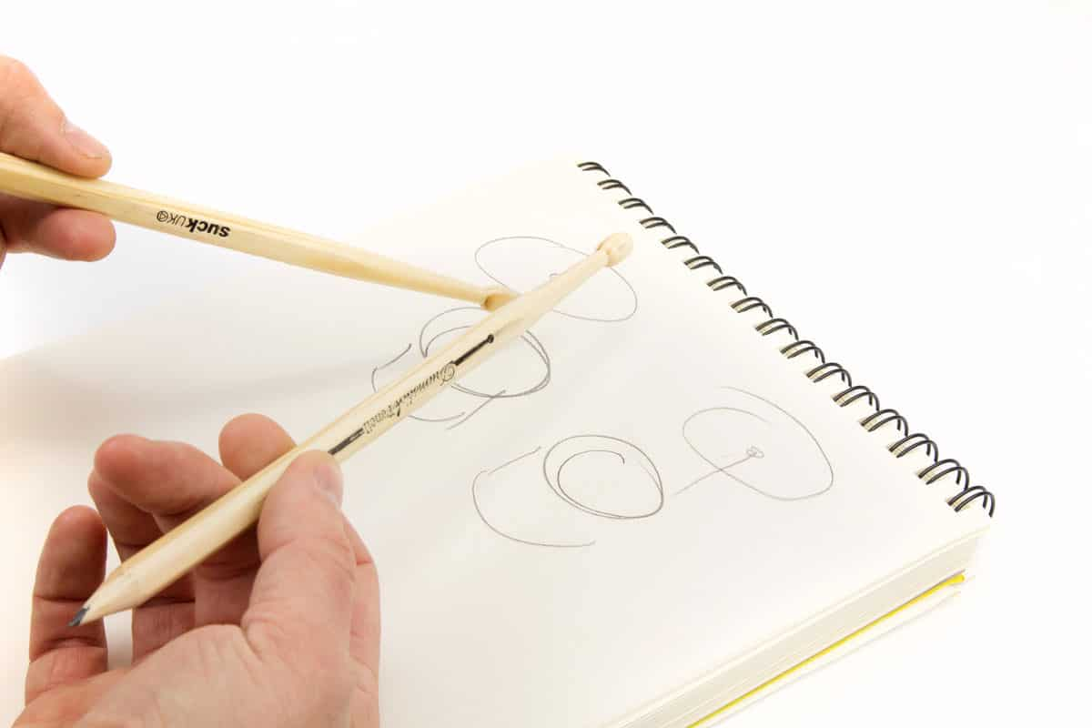 Suck UK Wooden Drumstick Pencil Drumming on Note Pad