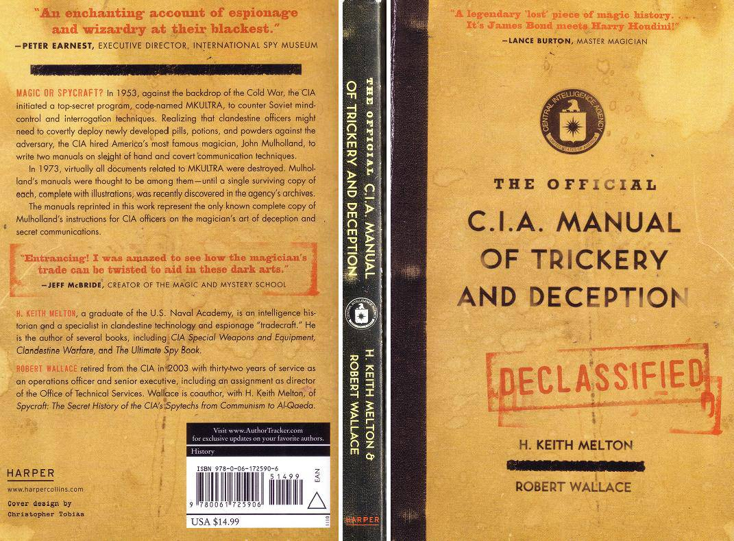 The Official CIA Manual of Trickery and Deception Buy Geek Spy Gift
