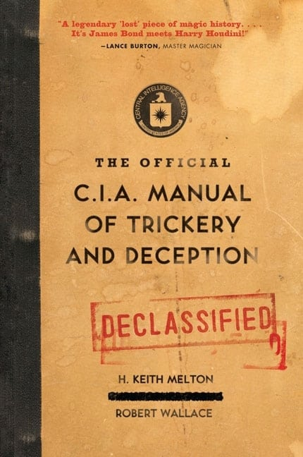 The Official CIA Manual of Trickery and Deception Cool Gift to Buy Him