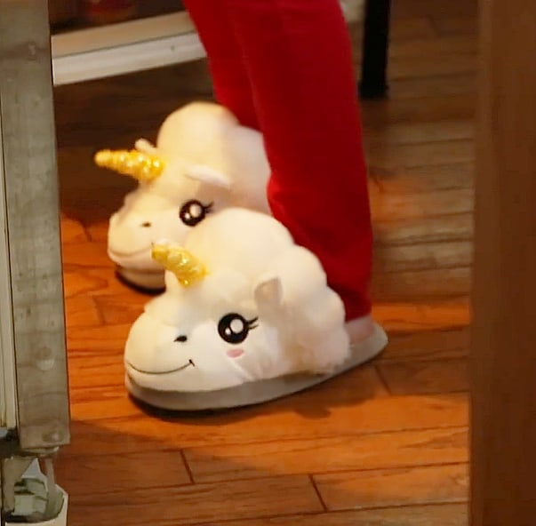 Thinkgeek Plush Unicorn Slippers for Grown Ups Cool Gift Idea for Her