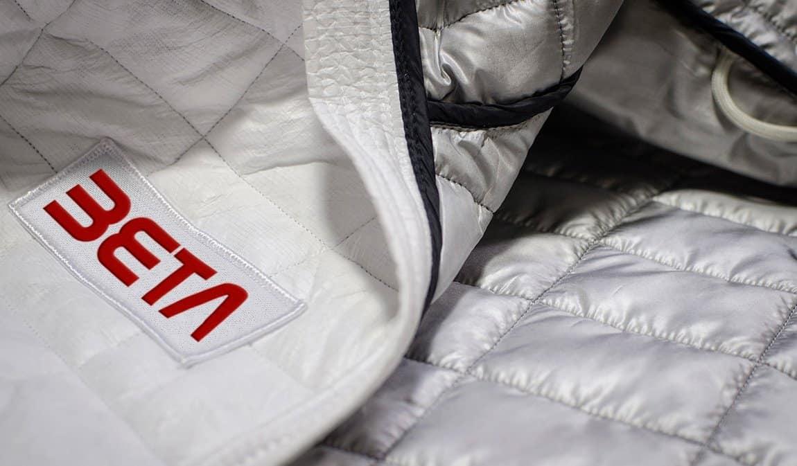 Betabrand Space Jacket Beta Logo Design