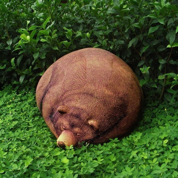 Big Sleeping Grizzly Bear Bean Bag Cool Novelty Item to Buy