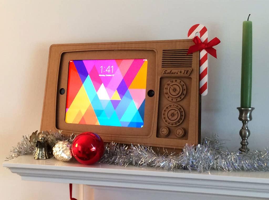 Cardboard Safari TV Cardboard iPad Stand Cool Gift to Buy