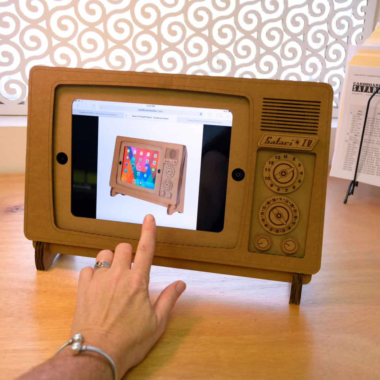 It's not real tablet entertainment if it's not on a card board TV stand.