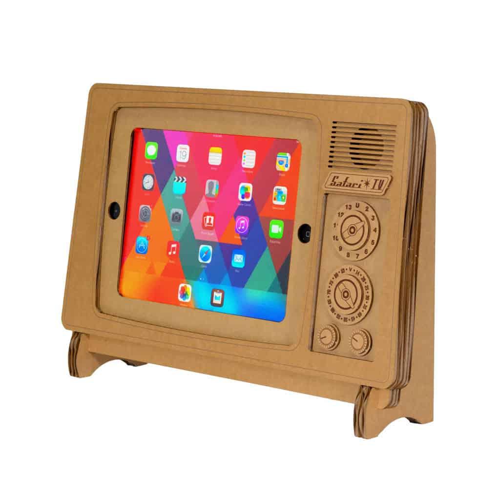 Cardboard Safari TV Cardboard iPad Stand Unique Novelty Gift Idea