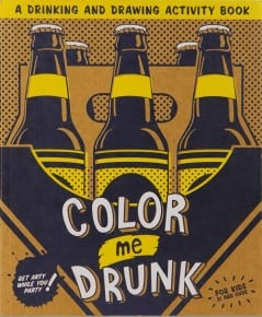 A drinking and drawing activity book.