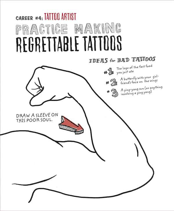 Color Me Drunk A Drinking and Drawing Activity Book Regretable Tatoo Page
