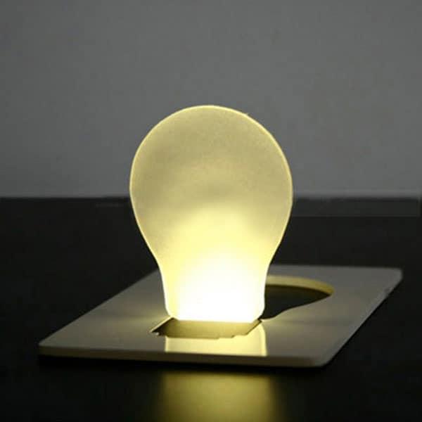 Credit Card Lightbulb  Cool Novelty Item to Buy