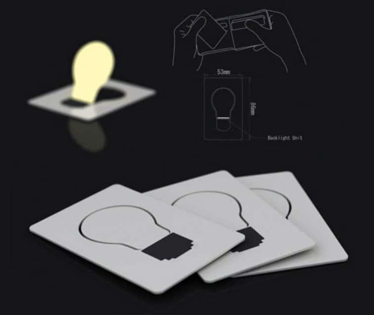 Credit Card Lightbulb  Pocket Night Light