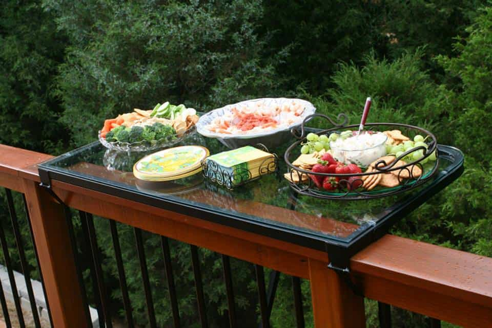 DeckMATE Rail Tray  Porch Fixture to Buy Snack Time