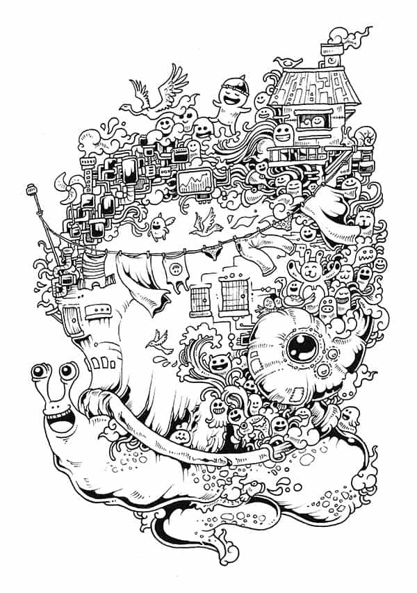 each illustration is unique on its own and meticulously detailed by master doodler kerby rosanes a sure hit to for anyone who loves to color - Detailed Coloring Books