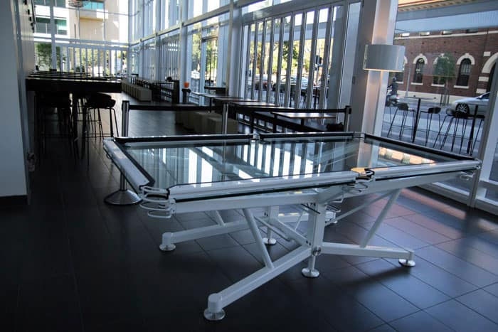 Elite Innovations Glass Pool Table Modern Design