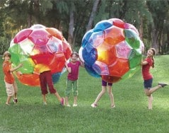 Everything is more fun inside a big bouncy ball.