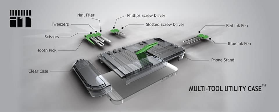 IN1 Multi-Tool Utility Case Different Functions