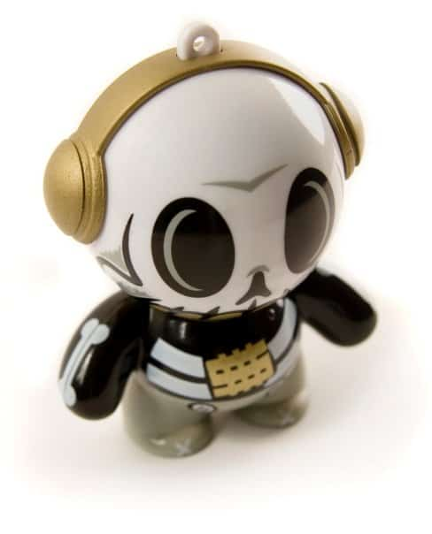 Mobi Headphonies Portable Speakers Designer Skull