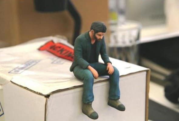 Neuralfirings A Little Sad Keanu Reeves Figure - NoveltyStreet