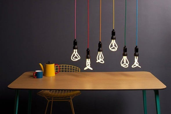 The world's first designer low energy light bulb.