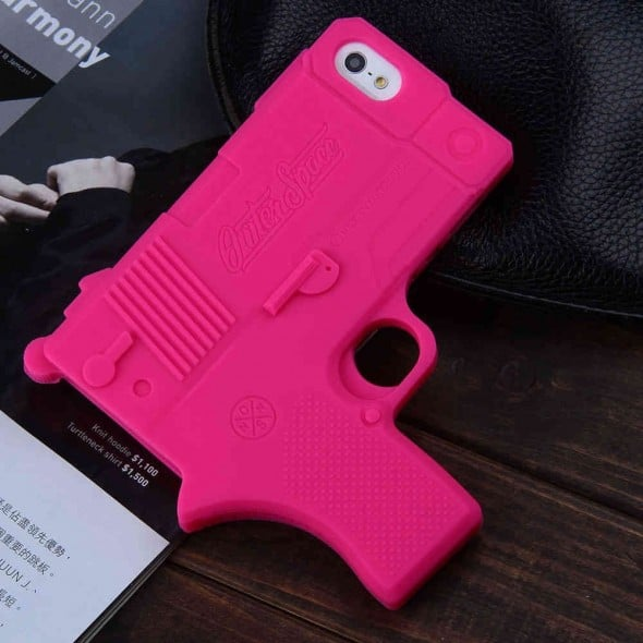 Raytop Gun Shaped Soft Silicone iPhone Cover Cool Stuff to Buy