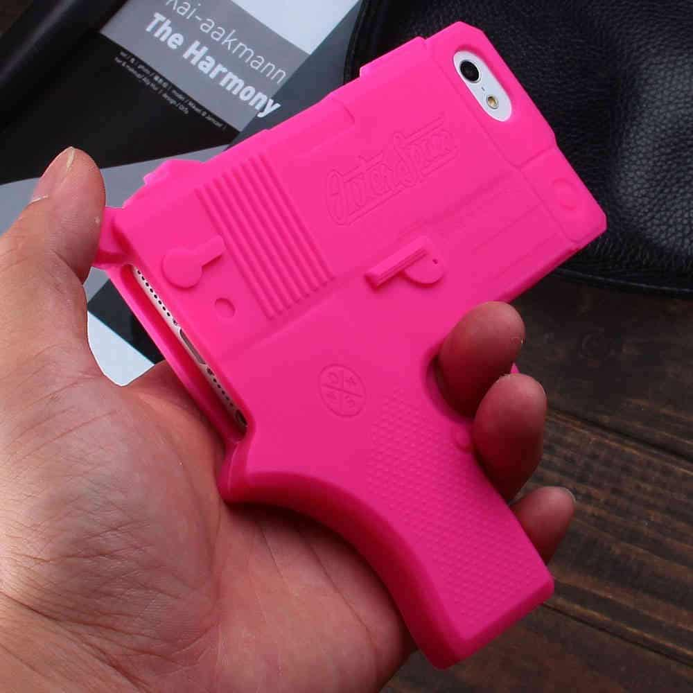 Raytop Gun Shaped Soft Silicone iPhone Cover Cool Things to Buy
