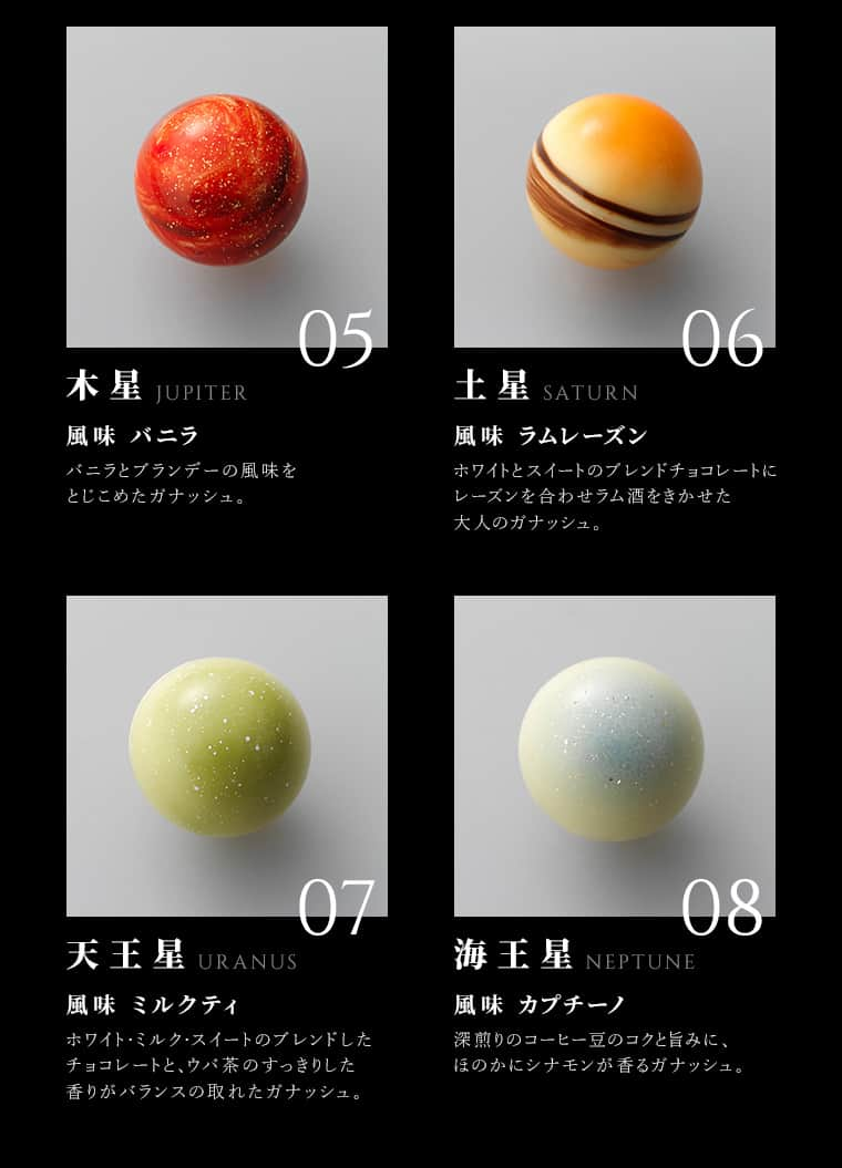 Rihga Leclat Chocolate Planets Candy from Japan