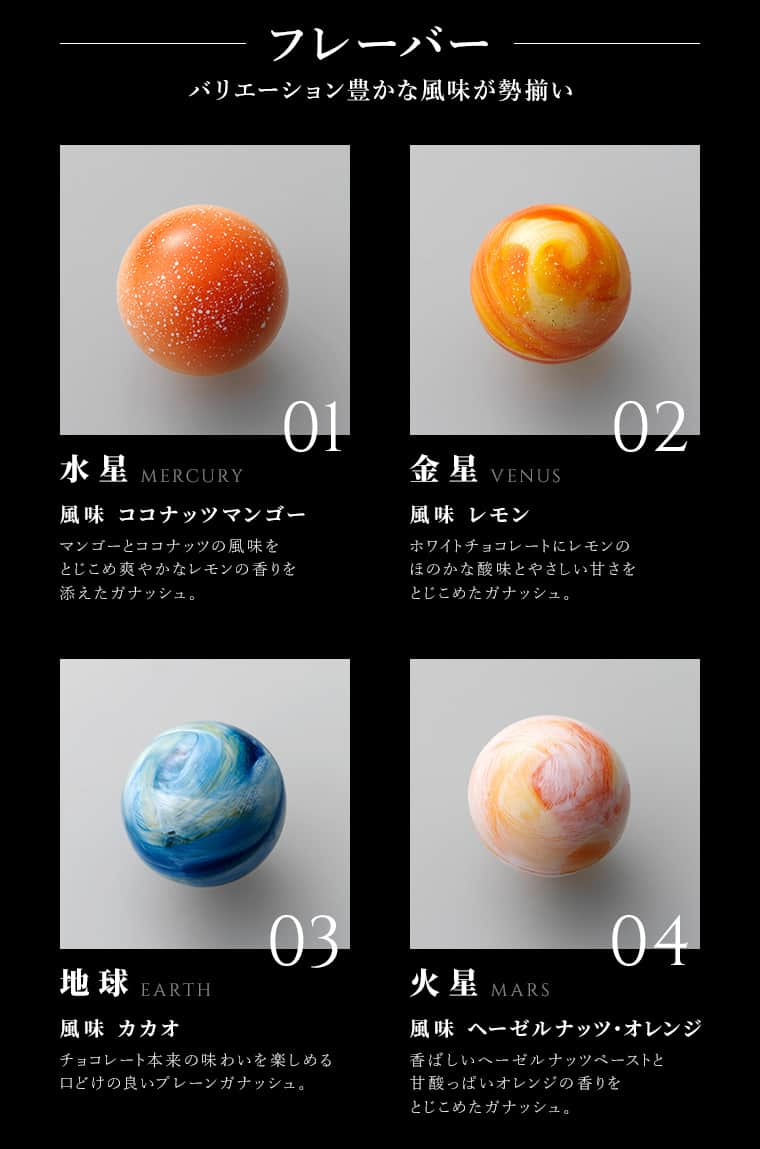 Rihga Leclat Chocolate Planets Japanese Sweets