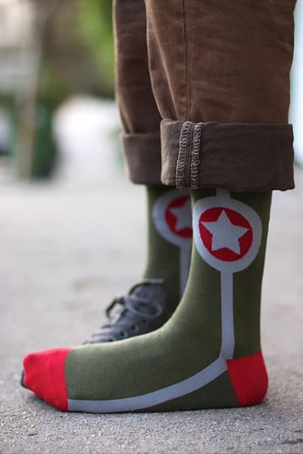 Sock It to Me Army Star Crew Socks Cool Gift for Army People