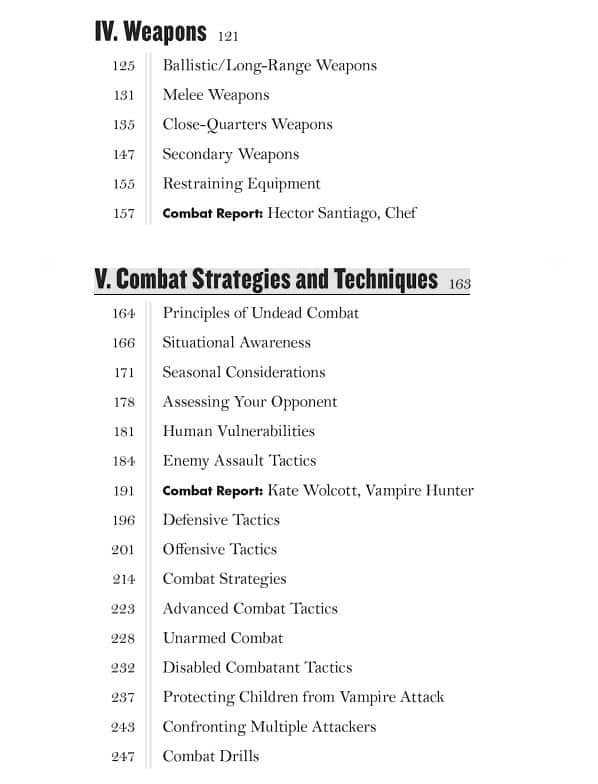 The Vampire Combat Manual A Guide to Fighting the Bloodthirsty Undead Chapter Page