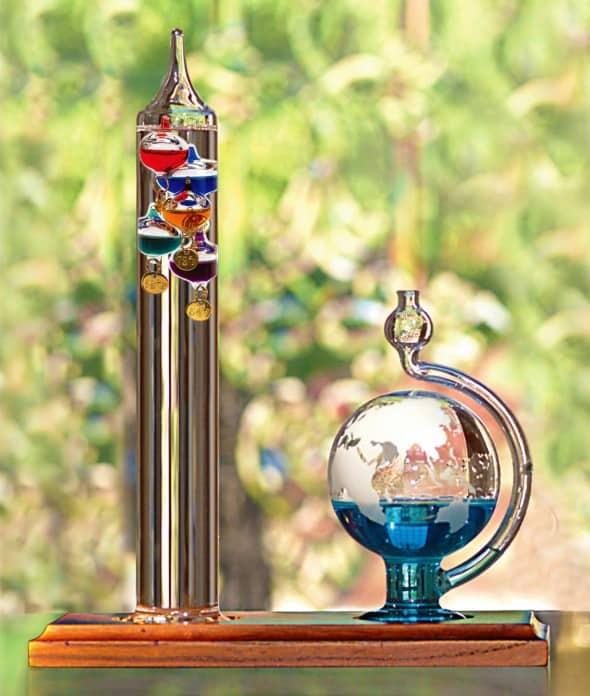 AcuRite Galileo Thermometer with Glass Globe Barometer Weird Stuff to Buy