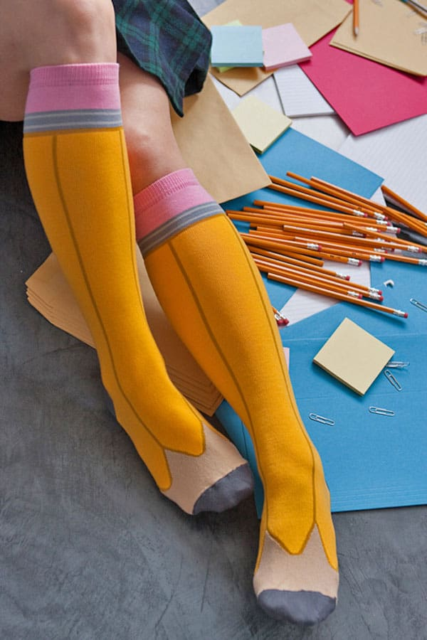 Ashi Dashi Pencil Knee High Socks Sexy Geek Wear to Buy Her