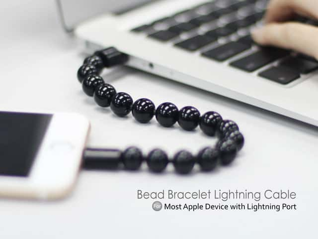 Bead Bracelet Lightning Cable Geeky Fashion Accessory