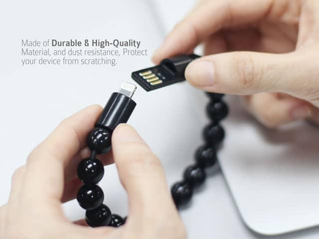 Bead Bracelet Lightning Cable Hidden Geek