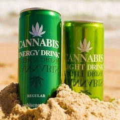 Energy drink with hemp seed extract.