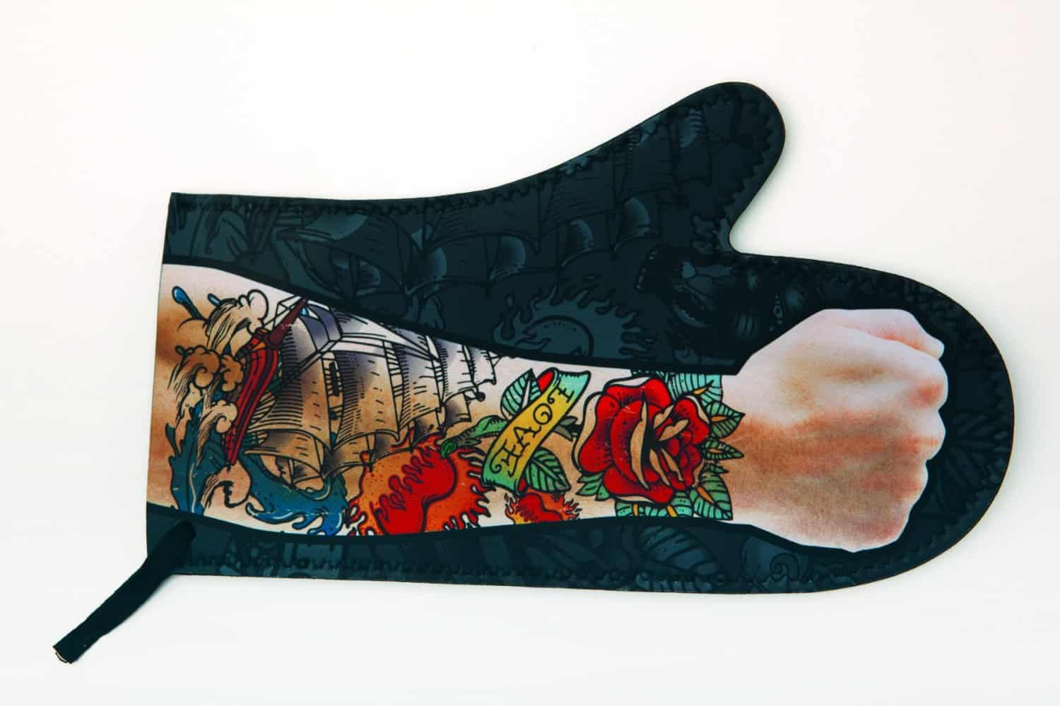 DCI Tattoo Oven Mitt Cool Novelty Item to Buy