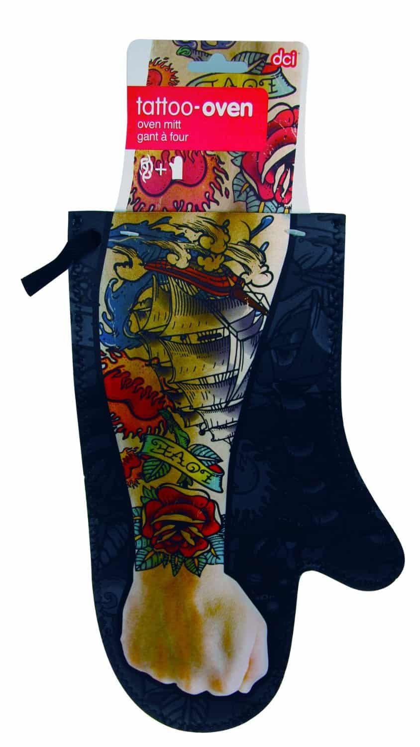DCI Tattoo Oven Mitt Funny Gift Idea to Buy Him