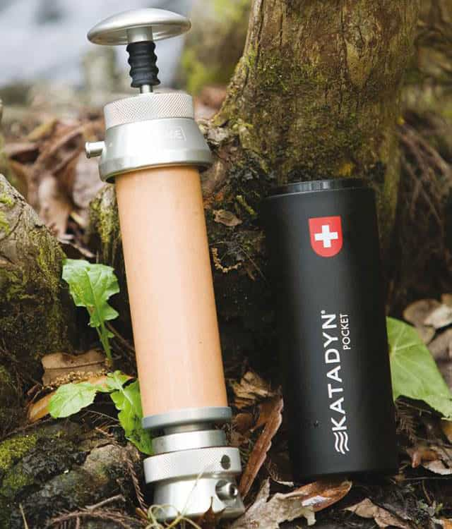 Pocket water filter built for a lifetime's use.
