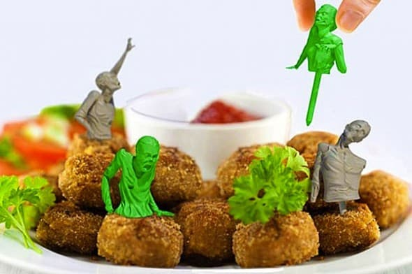 Meninos Zombie Food Party Picks Fun Birthday Accessory