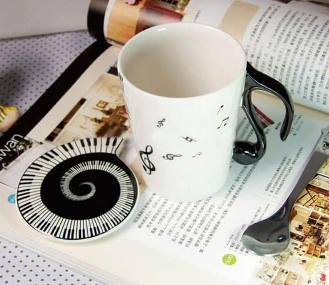 Muise Musical Notes Mug  Awesome Gift Idea