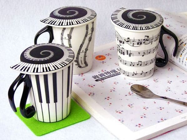 Muise Musical Notes Mug  Buy Cool Gift for Her