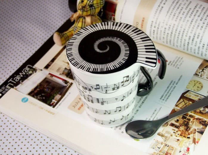 Muise Musical Notes Mug Noveltystreet