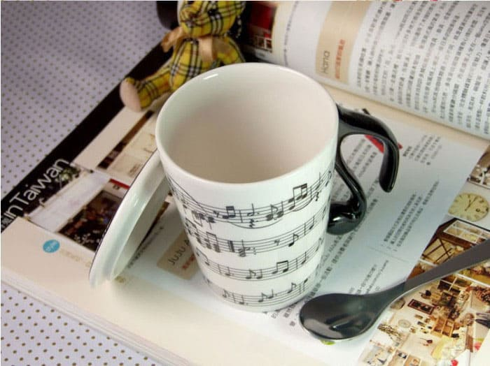 Muise Musical Notes Mug  Interesting Novelty Item