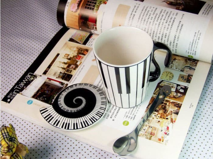 Muise Musical Notes Mug  Novelty Item to Buy