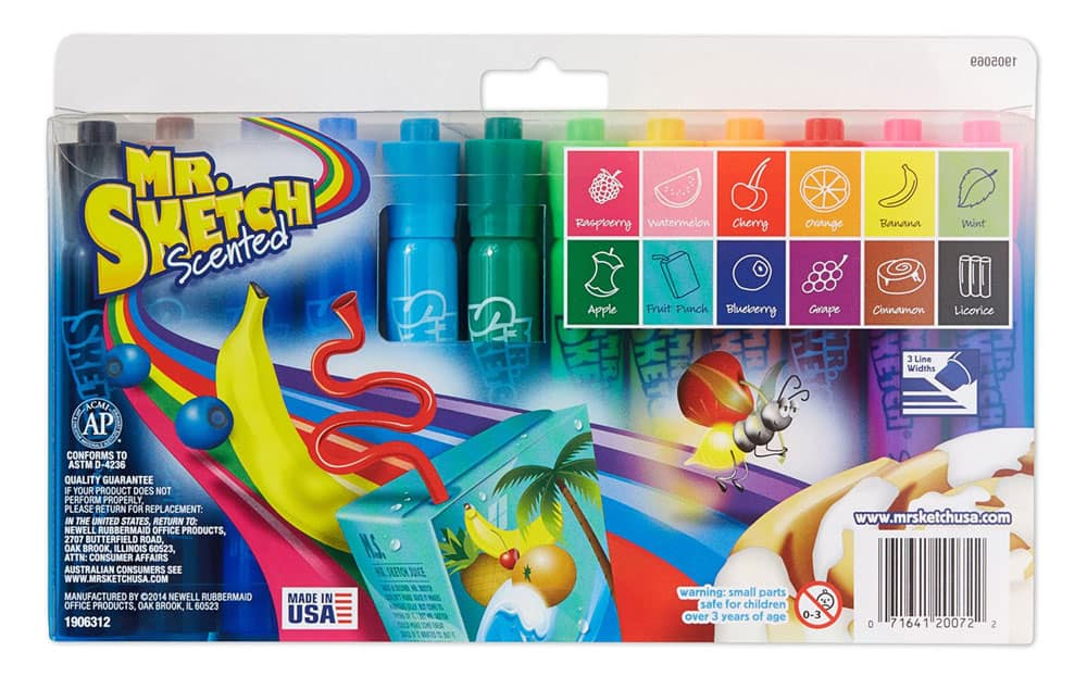 Newell Rubbermaid Mr. Sketch Scented Markers Fruit Flavors