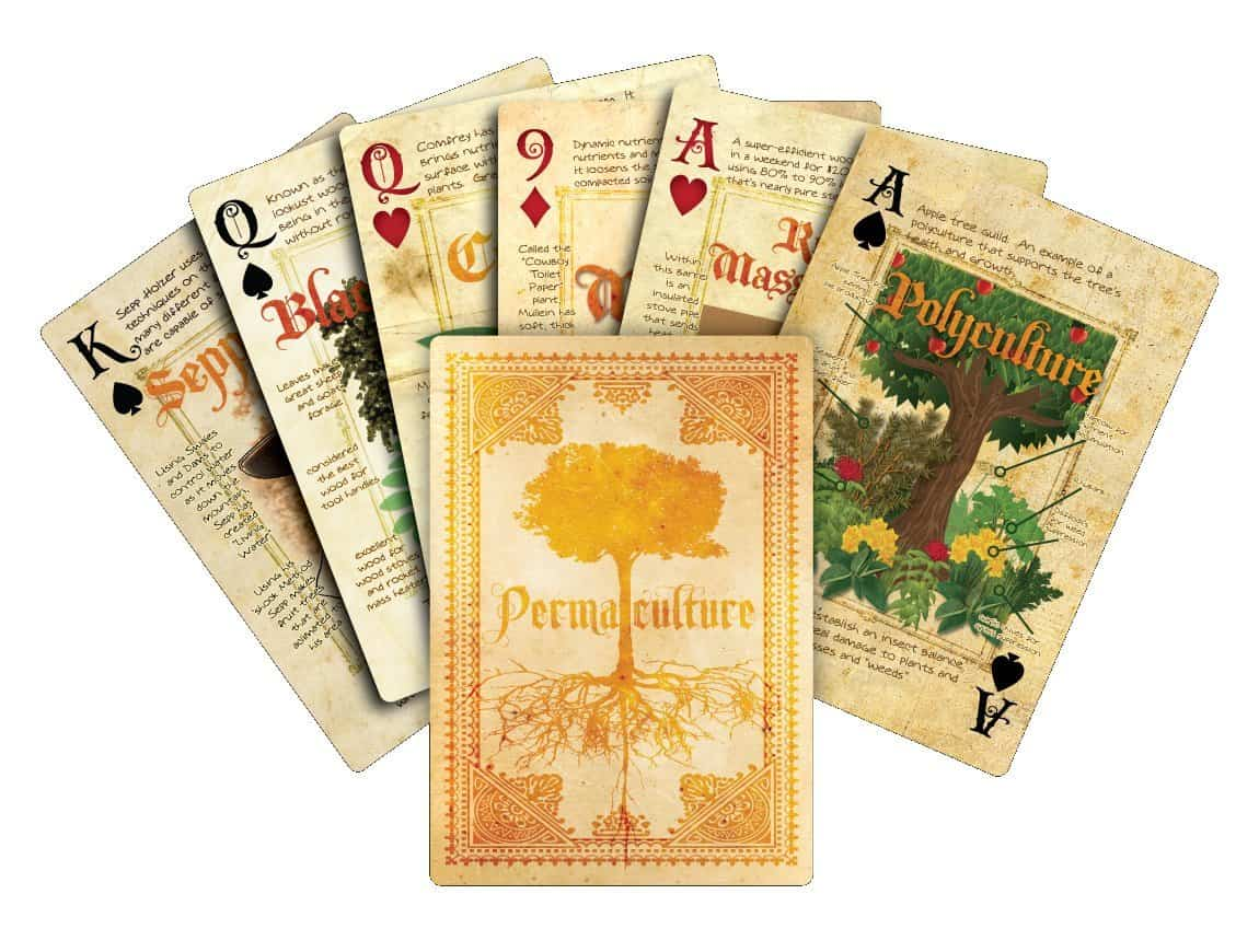 Permaculture Playing Cards Gardening Ideas