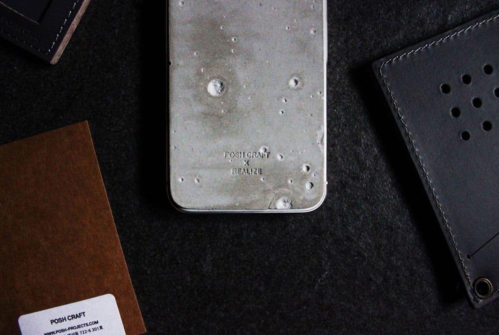 Posh Craft Luna Concrete Skin Label Detail