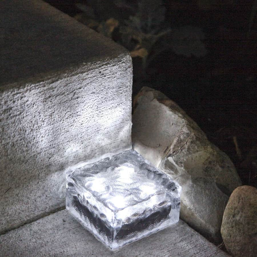 Signstek Solar Powered Path Brick Paver Light Illuminated Walkway