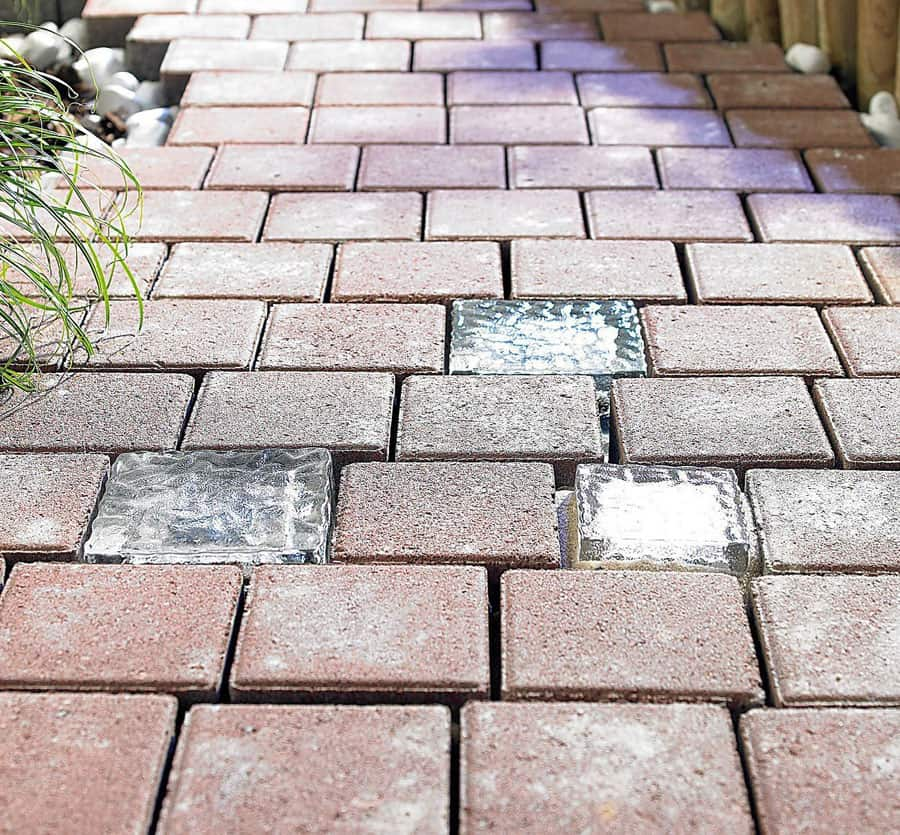 Signstek Solar Powered Path Brick Paver Light Transparent Brick