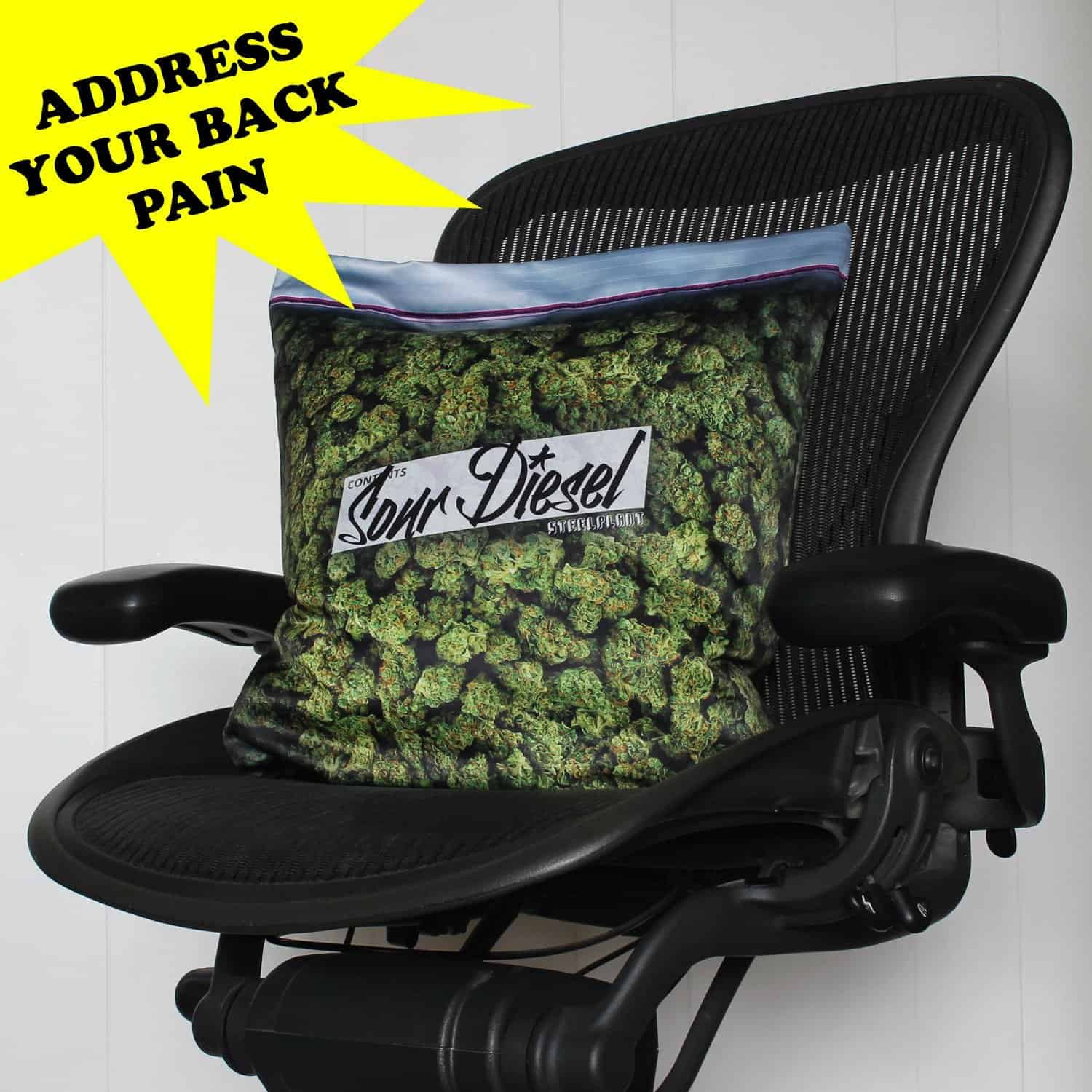 Steelplant Baggie of Cannabis Pillowcase Buy for Backpain