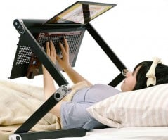 Use your computer while lying down.