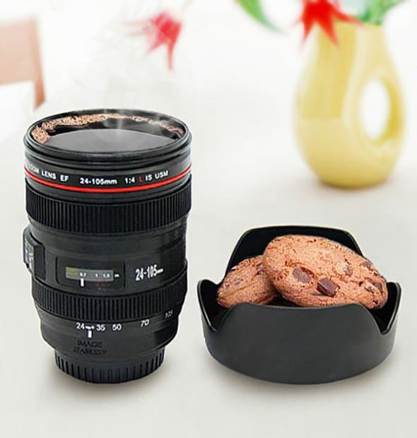 Thumbs Up Travel Lens Mug  Buy Gift for Photographer